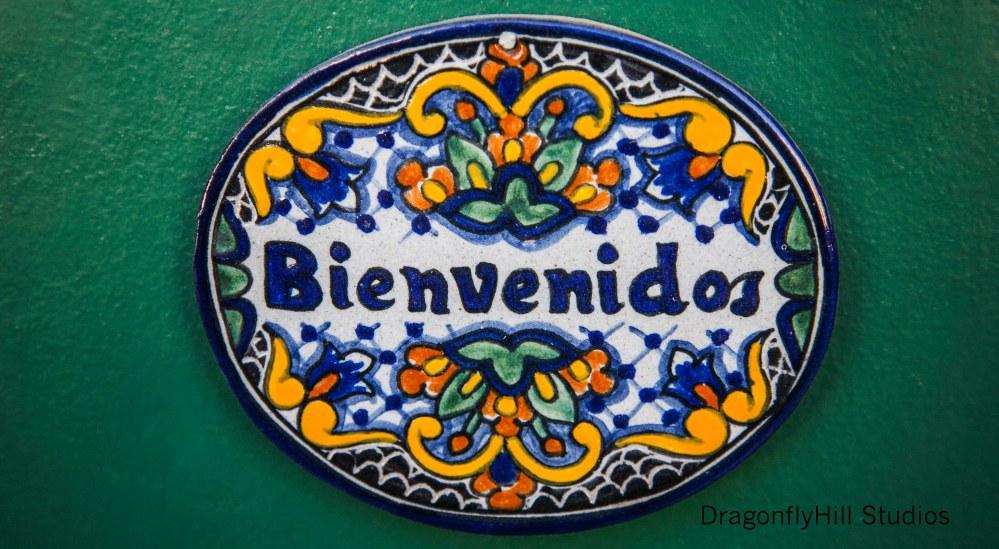 Bienvenidos Talavera Plaque