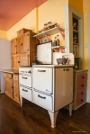 Stove and Hoosier Cabinet