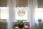Lotus Room Stained Glass Window