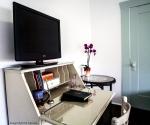 Sleeping Porch Secretary Desk with Flat Screen TV