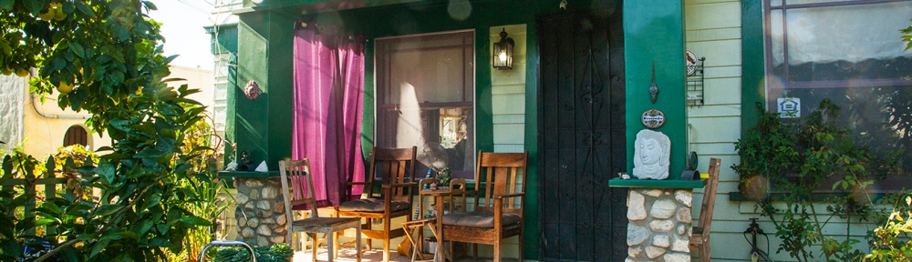 Front porch with craftsman chairs