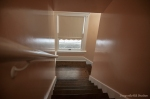 Staircase between upstairs and downstairs
