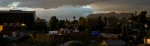 View from the Studio: Sunset over the Hollywood Hills