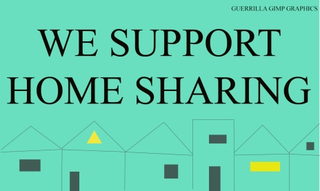 WE SUPPORT HOME SHARING