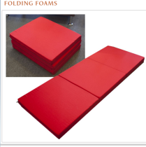3 inch folding foam mattress. Color: red