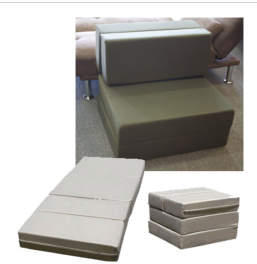 6 inch folding foam mattress. Color: grey