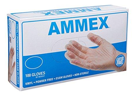 AMMEX - VPF62100-BX - Medical Vinyl Gloves - Disposable, Powder Free, Exam